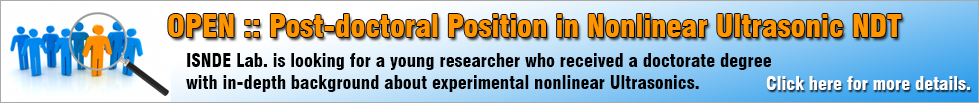 OPEN :: Post-doctoral Position in Nonlinear Ultrasonic NDT